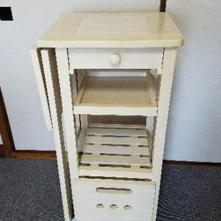 キッチンワゴン タイルトップ 天板伸縮 キャスター付き ヤマソロ