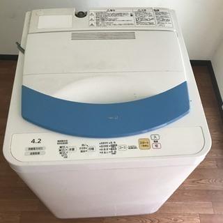 ナショナル 全自動洗濯機 4.2k