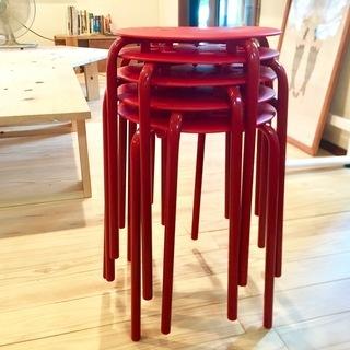 IKEAスツール5脚