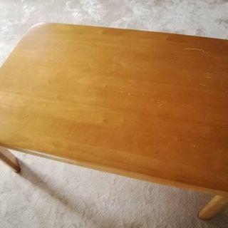 パイン材テーブル (足折りたたみ式)