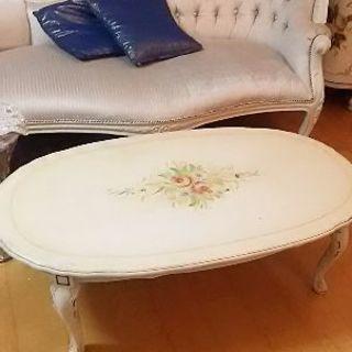 イタリー製猫脚アンティークテーブル