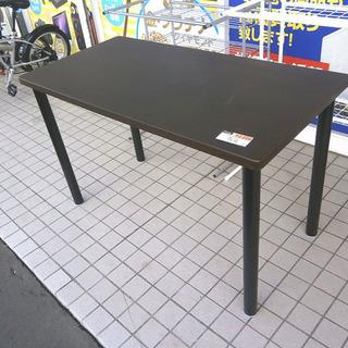 札幌 引き取り ダイニングテーブル/作業台 こげ茶系 格安で