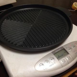 【どんどん値下げします】卓上IH調理器+焼肉プレート