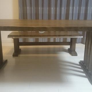 ★美品★ダイニングテーブルセット(机、イス×2脚、ベンチ)