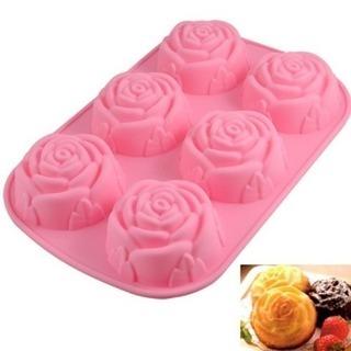 新品未使用かわいいバラ型マドレーヌ、カップケーキ型抜き6ピース