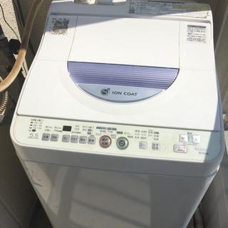 【2014年製】SHARP タテ型洗濯乾燥機 ES-TG55L 洗...