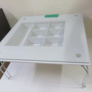 硝子テーブル (白)