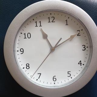 掛け時計 白×シルバー ※9/28までの引き取りのみ
