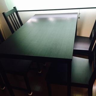 【交渉中】キッチン ダイニングテーブル 椅子4脚