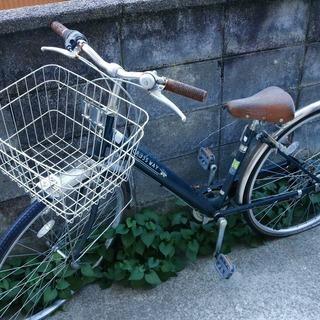 パンク自転車