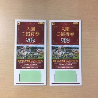 那須りんどう湖LAKE VIEW入園招待券2枚