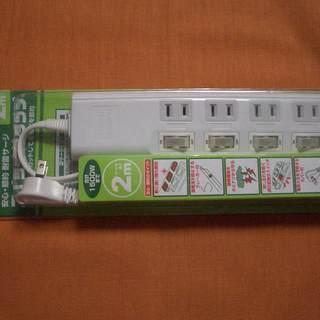 (終了いたしました)節電スイッチ付 タップ 4個口 2m (ビバ...