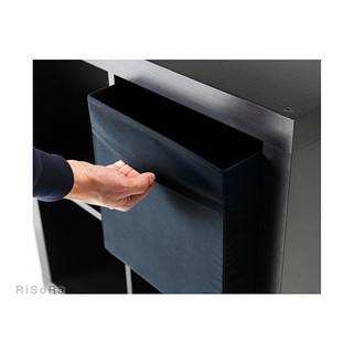 イケア(IKEA) 折りたたみ式 収納 ボックス ブラック4つ