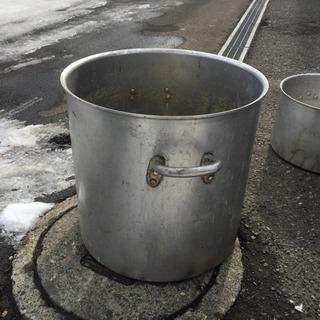 大きな寸胴鍋 業務用 厨房器具 ステンレス製 45×45ほど