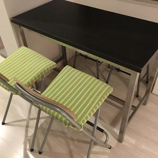 イケアのテーブルセット(椅子4つ付き)