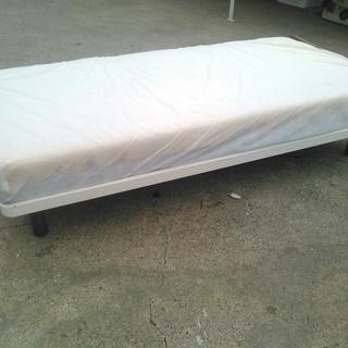 シングルベッド 枠スチール製&マットレス