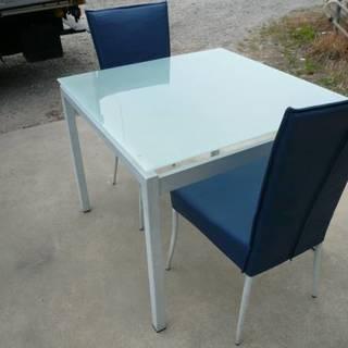 ダイニングセット  2人用 テーブル いす セット ガラス
