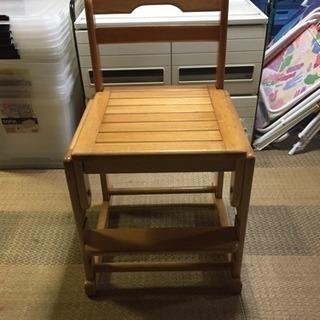 差し上げます。木製子供用椅子