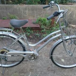 26インチ  6段変速機付き自転車