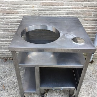厨房機器 炊飯器台 台車付 ステンレス作業台700×700×800