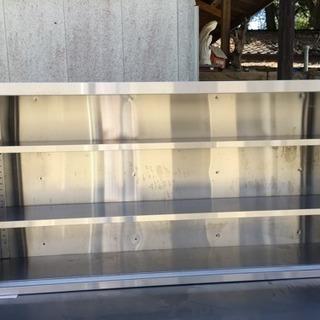 ステンレス吊り棚 1800×900×350 扉無 厨房備品用途多用