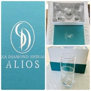 [GINZA DIAMOND SHIRAISHI]グラスセット 非売品