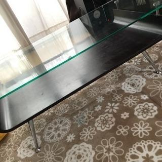 ガラステーブル リビングテーブル