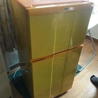 黄色い冷蔵庫♡