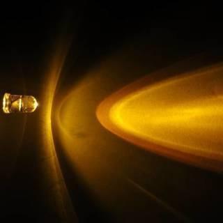 LEDの自作に! 砲弾型LED オレンジ 3500mcd 5mm ...