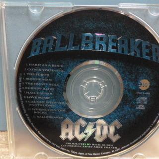 CDのみです(= =)/ AC/DC「ボール・ブレイカー」 国内初回盤
