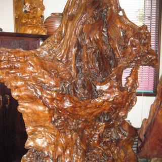 台湾メイド南洋樹彫刻と貴方のアート系作品と交換しませんか? - 家具