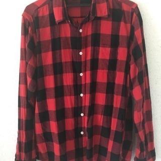 赤黒チェックシャツ