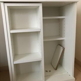 本棚  可動式の棚付き  ホワイト