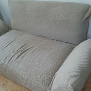 商談中) 2人用、ソファーベッド、布製、中古