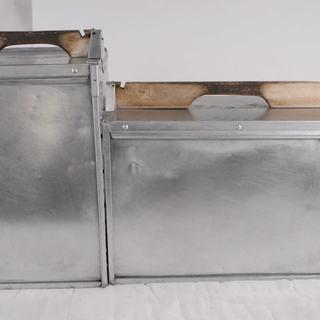 アルミ出前箱 大小 2台セット 縦型 業務用 調理器具 コンテナ ...