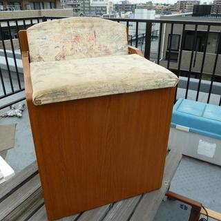 【無料で差し上げます】 学習机の木製イス