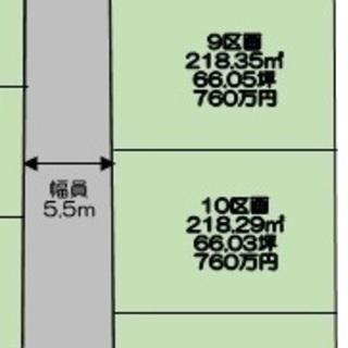 熊谷市樋春分譲地 8区画64.82坪770万円建築条件なし売地