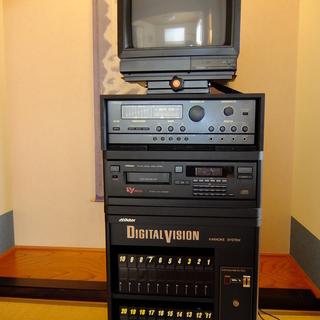 VCD 動画カラオケシステム 本体とソフト、モニター、スピーカー...