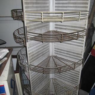 回転式 スチールラック かご 棚  サイズ 高さ:160cm 幅&...