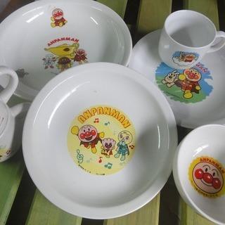 3c162 アンパンマン 食器セット カレー皿・平皿 中古 引取限定