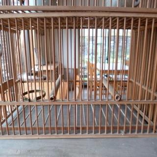 ◆レトロ木製鳥カゴ(水飲み器付き)