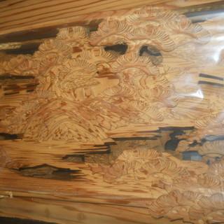彫刻欄間杉材無垢材1間2枚1組販売