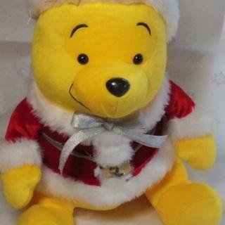 クマのプーさん クリスマスバージョン ぬいぐるみ