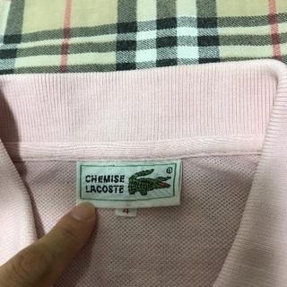 大幅値引き ラコステ ピンクポロシャツ サイズ4 - 服/ファッション