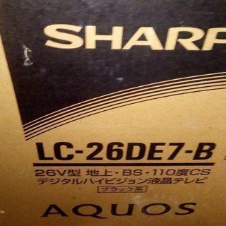 シャープ LC- 26DE7-B 薄型テレビ AQUOS