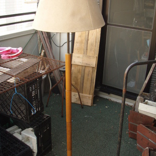 シェードランプ ランプスタンド  木製 H160W45