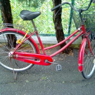 ジャンク 自転車 赤
