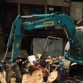 利益還元型 家屋解体工事、不用品片付け