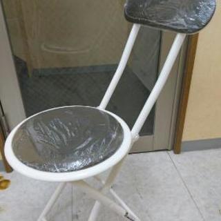 折り畳み椅子 新品(背もたれ付)