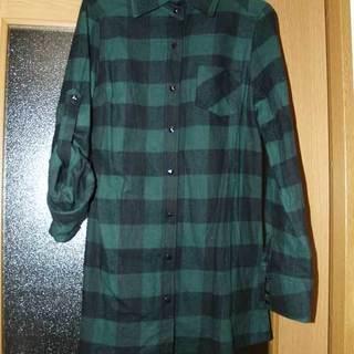 【売却済】チェックロングシャツ(green)
